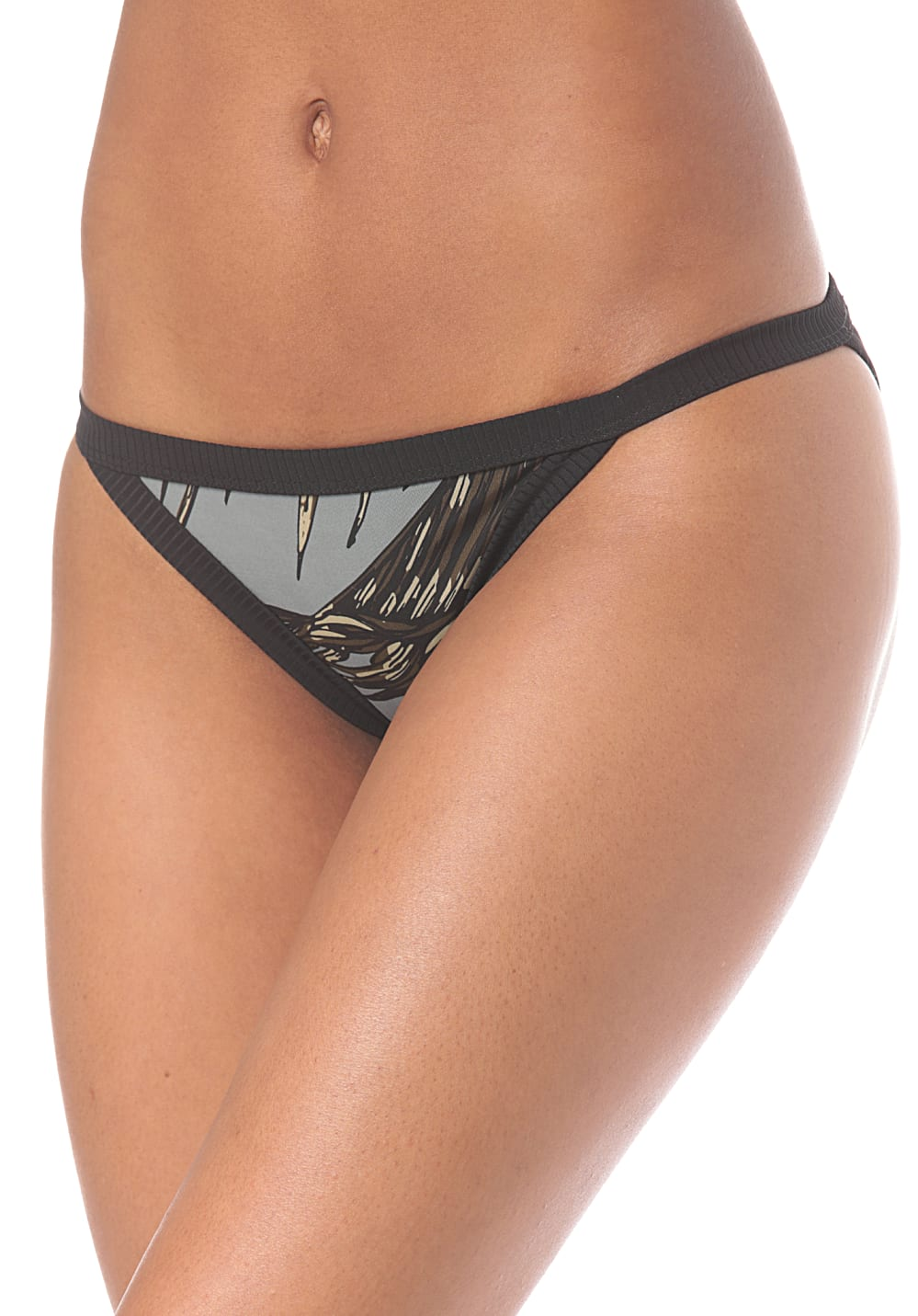 Bademode - Hurley Quick Dry Koko Surf Bottom Bikini Hose für Damen Grau  - Onlineshop Planet Sports
