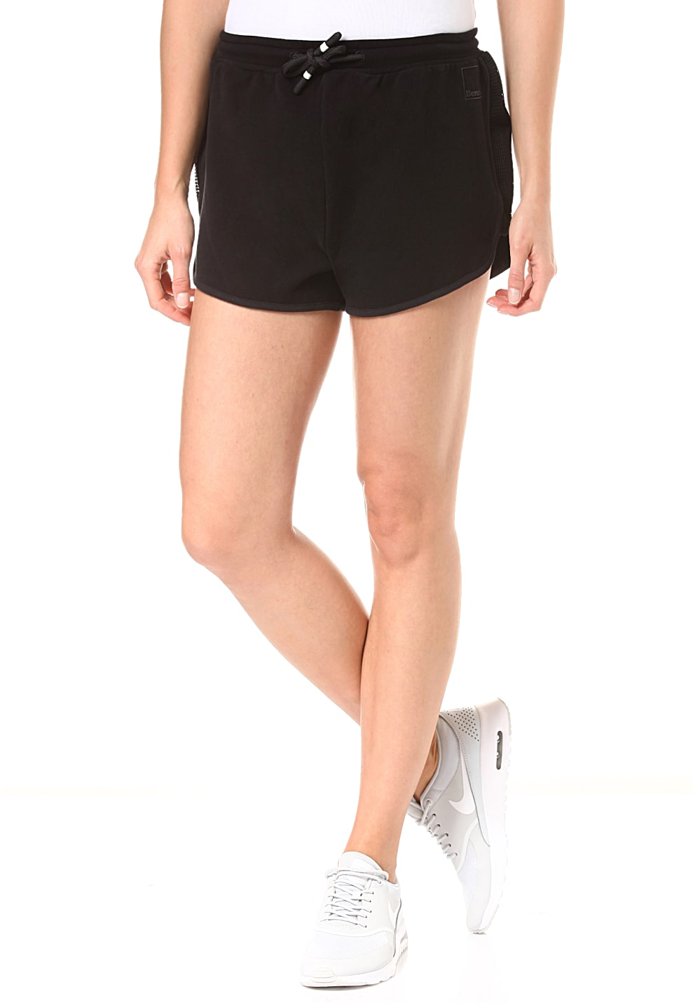 Hosen - Bench. Sweat Pants Mesh Insert Shorts für Damen Schwarz  - Onlineshop Planet Sports
