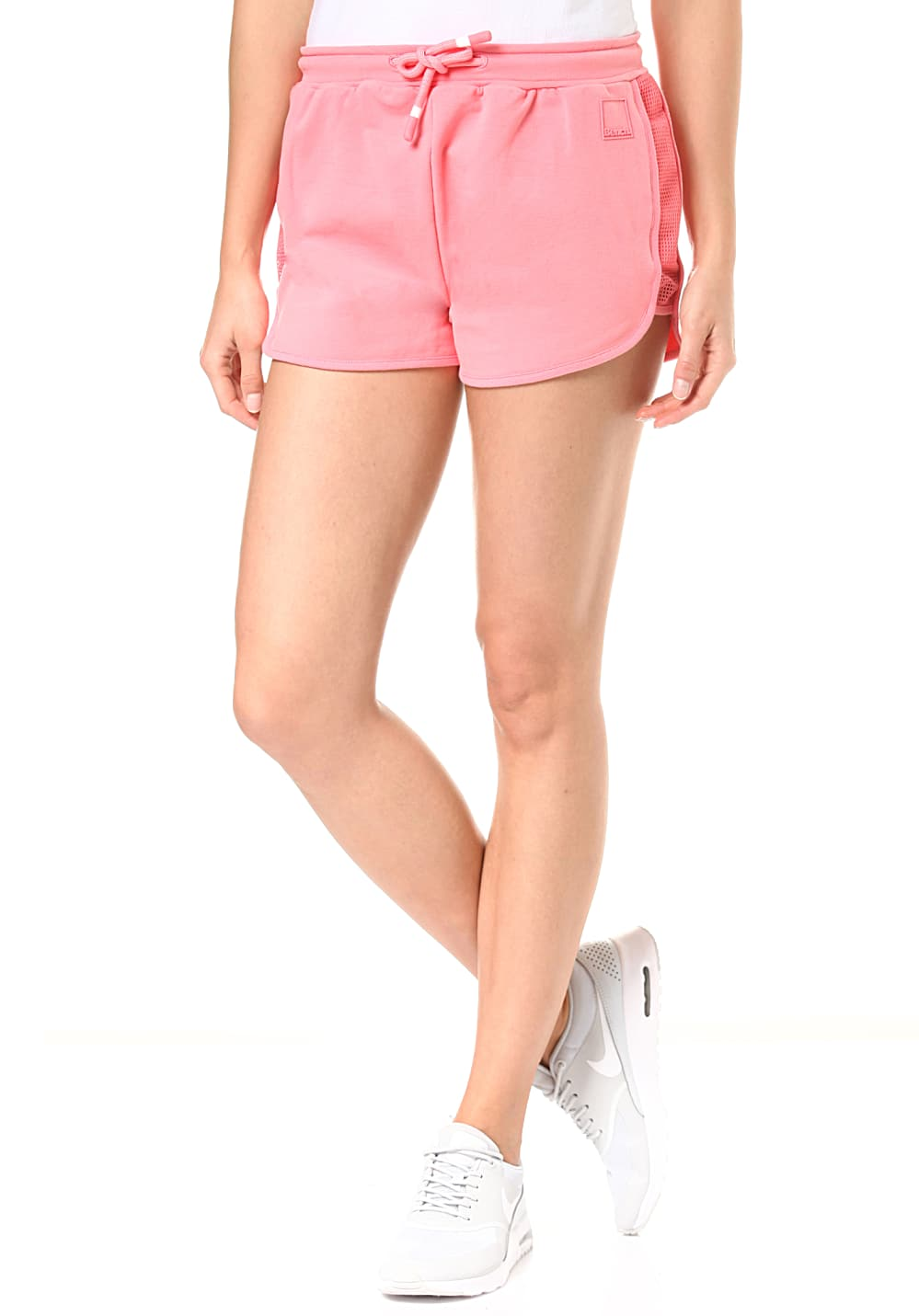 Hosen für Frauen - Bench. Sweat Pants Mesh Insert Shorts für Damen Pink  - Onlineshop Planet Sports