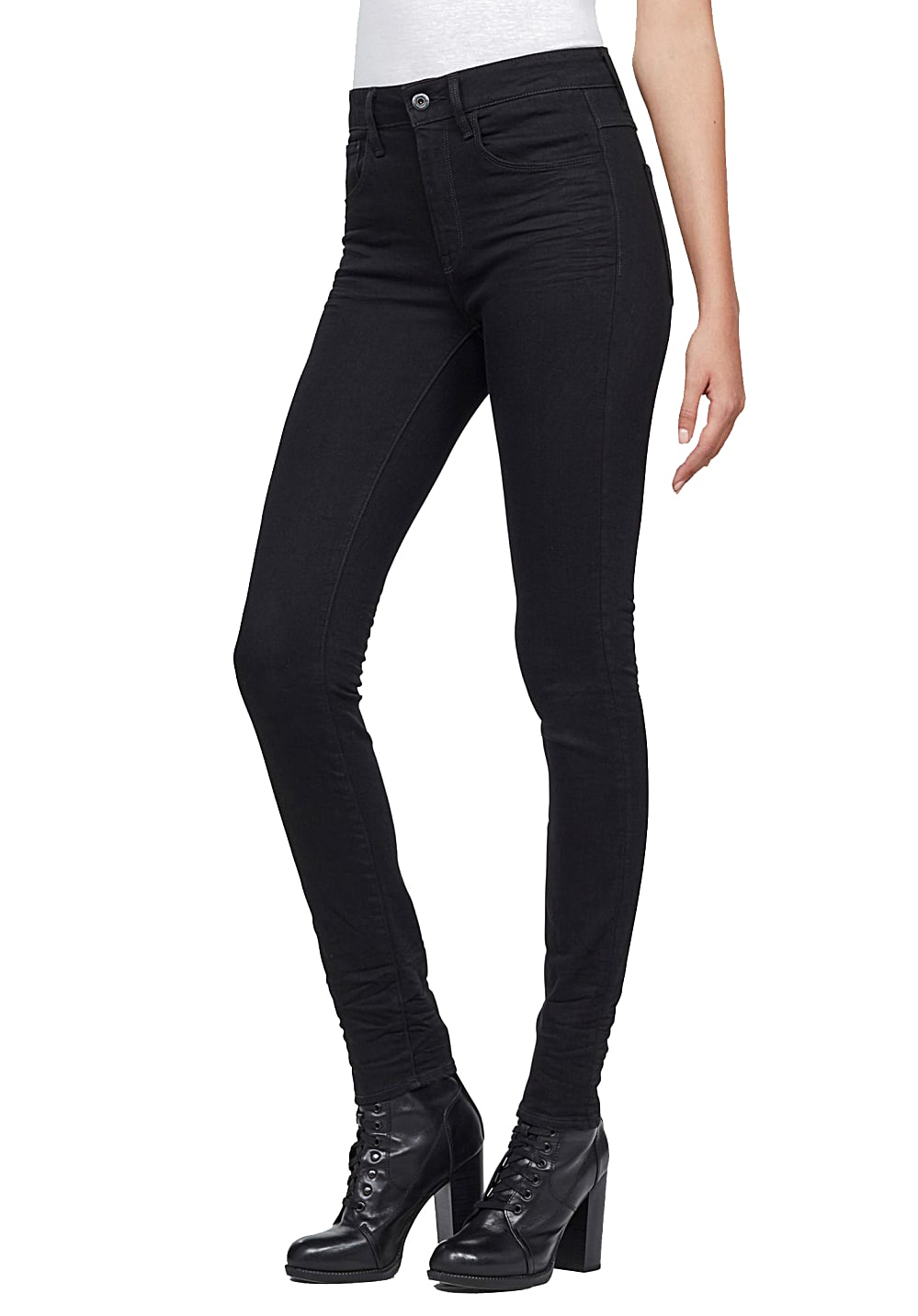 G-STAR RAW 3301 Deconstructed High Waist Skinny - Jeans für Damen - Schwarz
