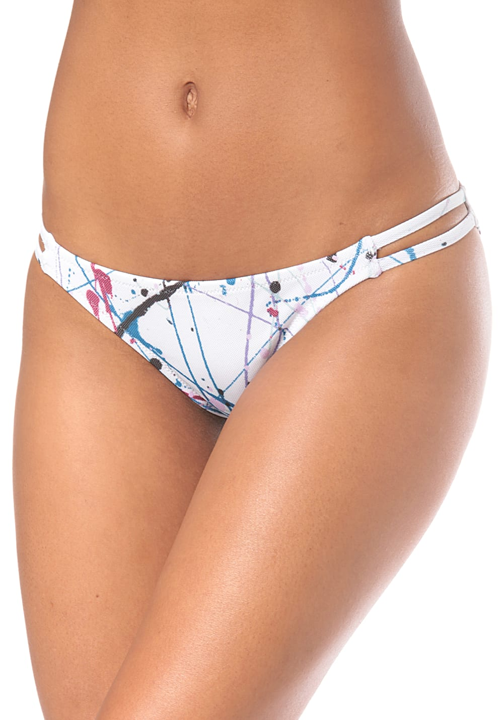 Bademode - Volcom Spray It Hipster Bikini Hose für Damen Weiß  - Onlineshop Planet Sports