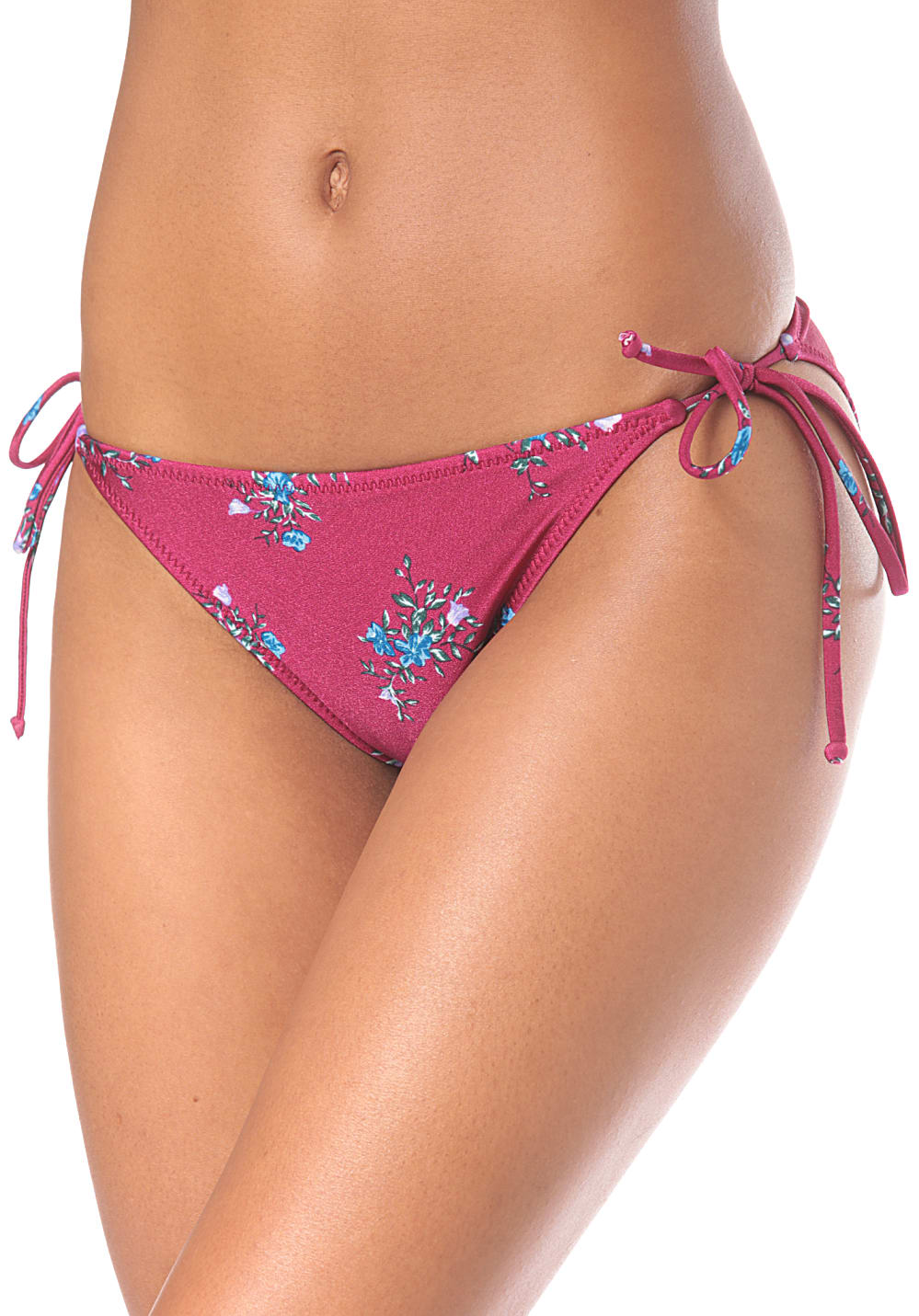 Bademode - Volcom Stems For Days Tie Side Bikini Hose für Damen Lila  - Onlineshop Planet Sports