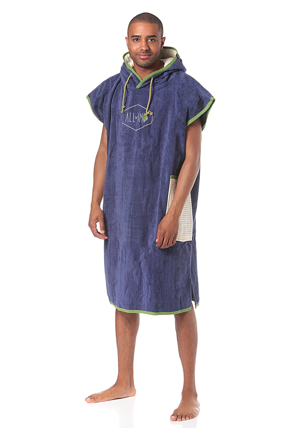 ALL-IN Bumpy Poncho Strandtuch - Blau