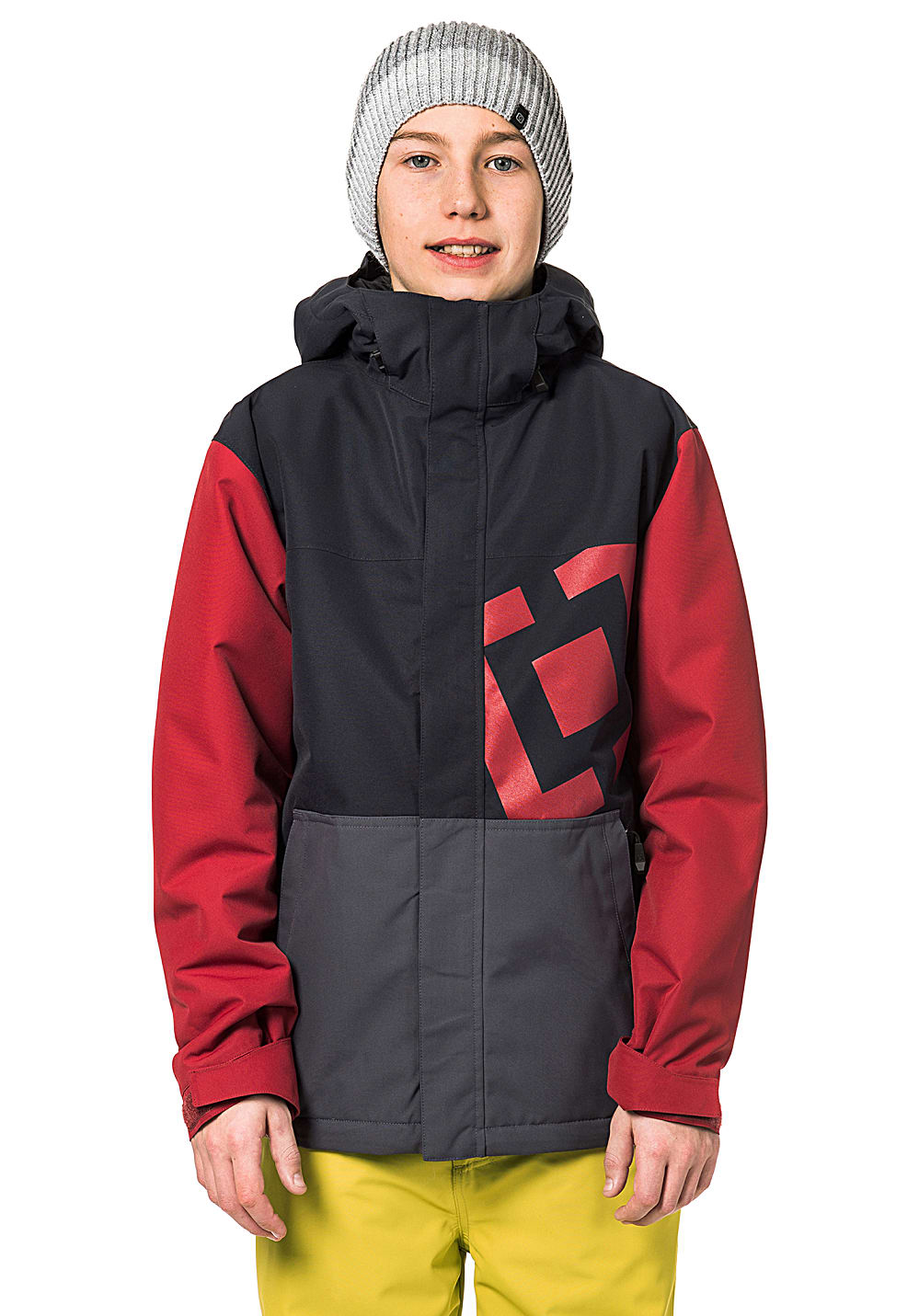 Boysregenwinter - Horsefeathers Falcon Snowboardjacke Rot - Onlineshop Planet Sports