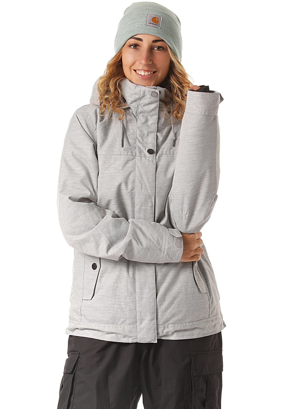 Jacken - Roxy Billie Snowboardjacke für Damen Grau  - Onlineshop Planet Sports