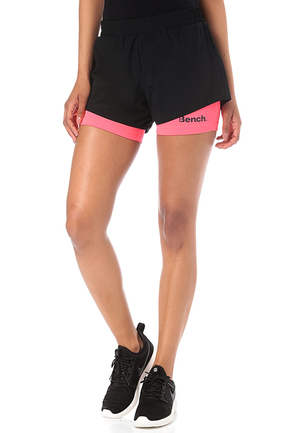 Hosen - Bench. Layered Shorts für Damen Schwarz  - Onlineshop Planet Sports