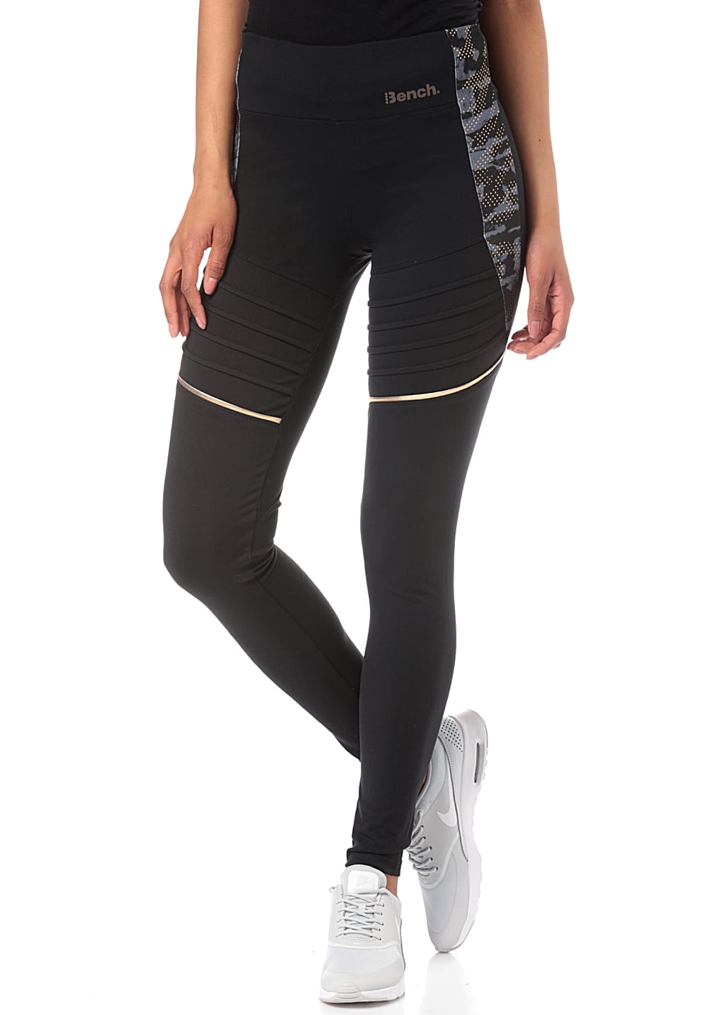 Hosen - Bench. Fluid Colour Block Leggings für Damen Schwarz  - Onlineshop Planet Sports