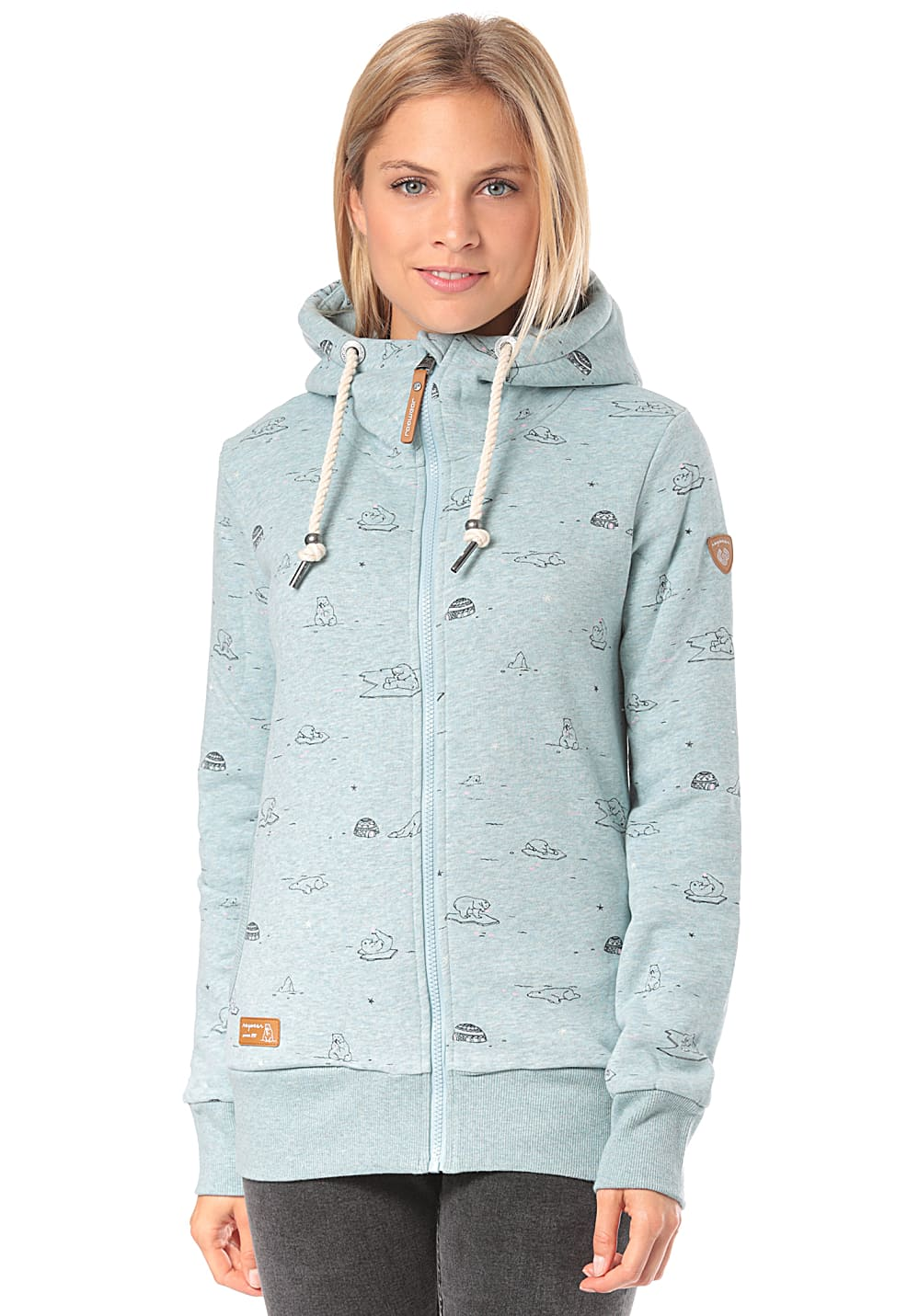 Jacken - ragwear Angel Zip Kapuzenjacke für Damen Blau  - Onlineshop Planet Sports