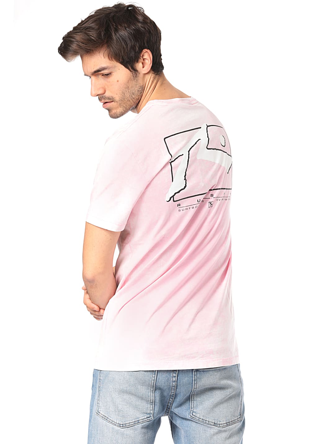 Rusty Wash TV Screen 7 - T-Shirt für Herren Pink