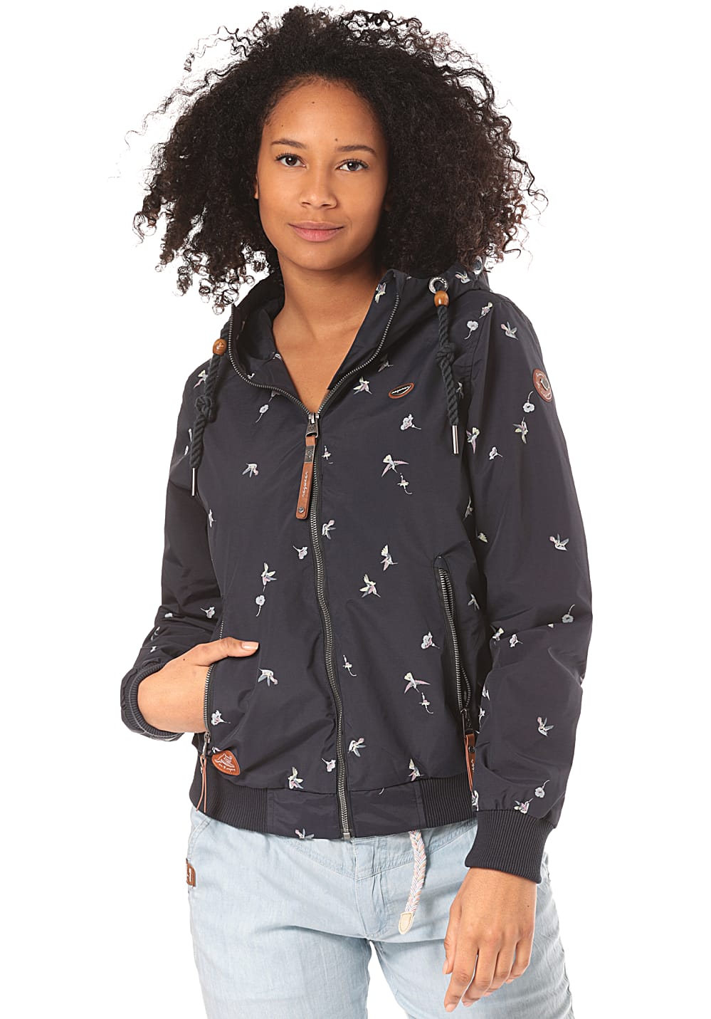 Jacken - ragwear Nuggie Birds Jacke für Damen Blau  - Onlineshop Planet Sports
