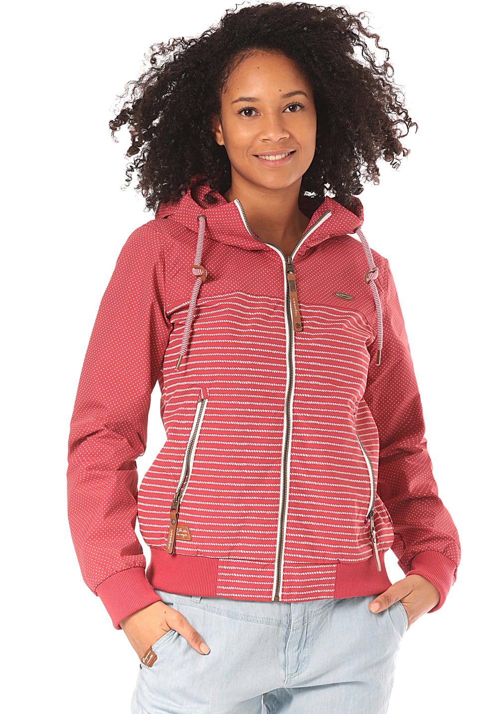 Jacken - ragwear Nuggie Marina Jacke für Damen Rot  - Onlineshop Planet Sports