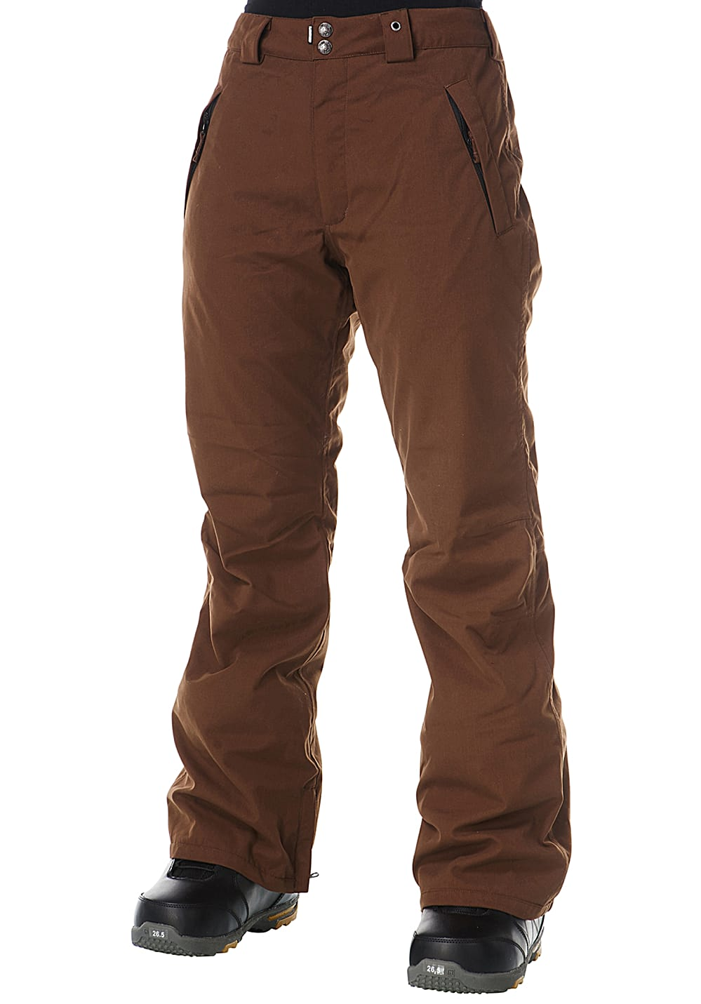 Light Yoko - Snowboardhose für Damen - Braun | Sportbekleidung > Sporthosen > Snowboardhosen | Dark - Brown | Fleece - Taft - Polyester | Light