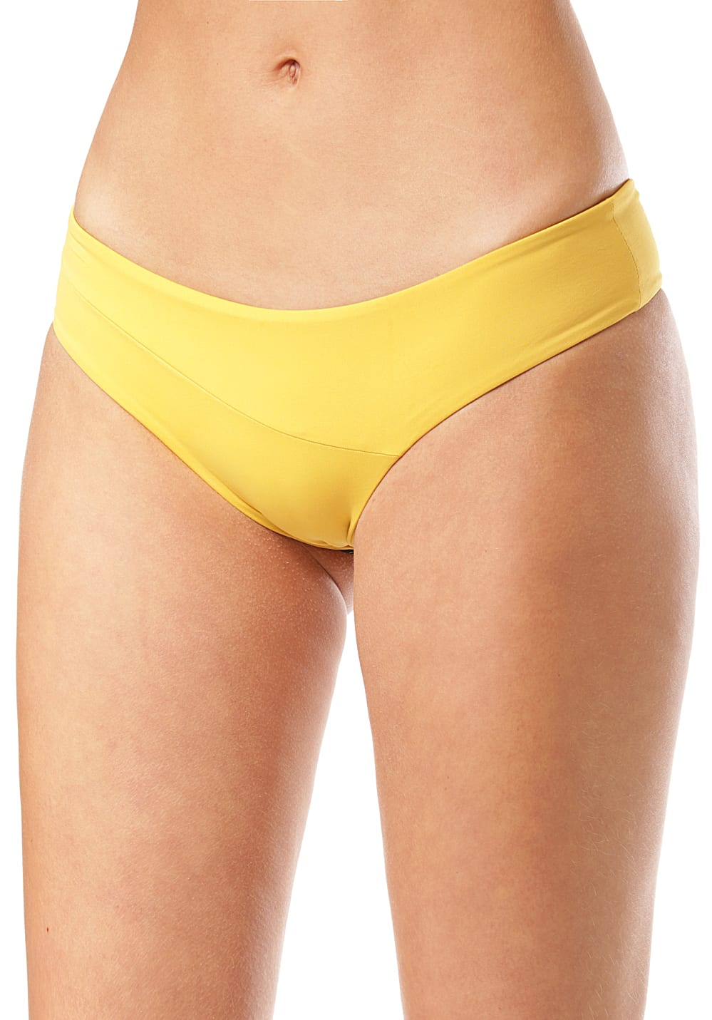Bademode - Volcom Simply Seam Cheeky Bikini Hose für Damen Gelb  - Onlineshop Planet Sports