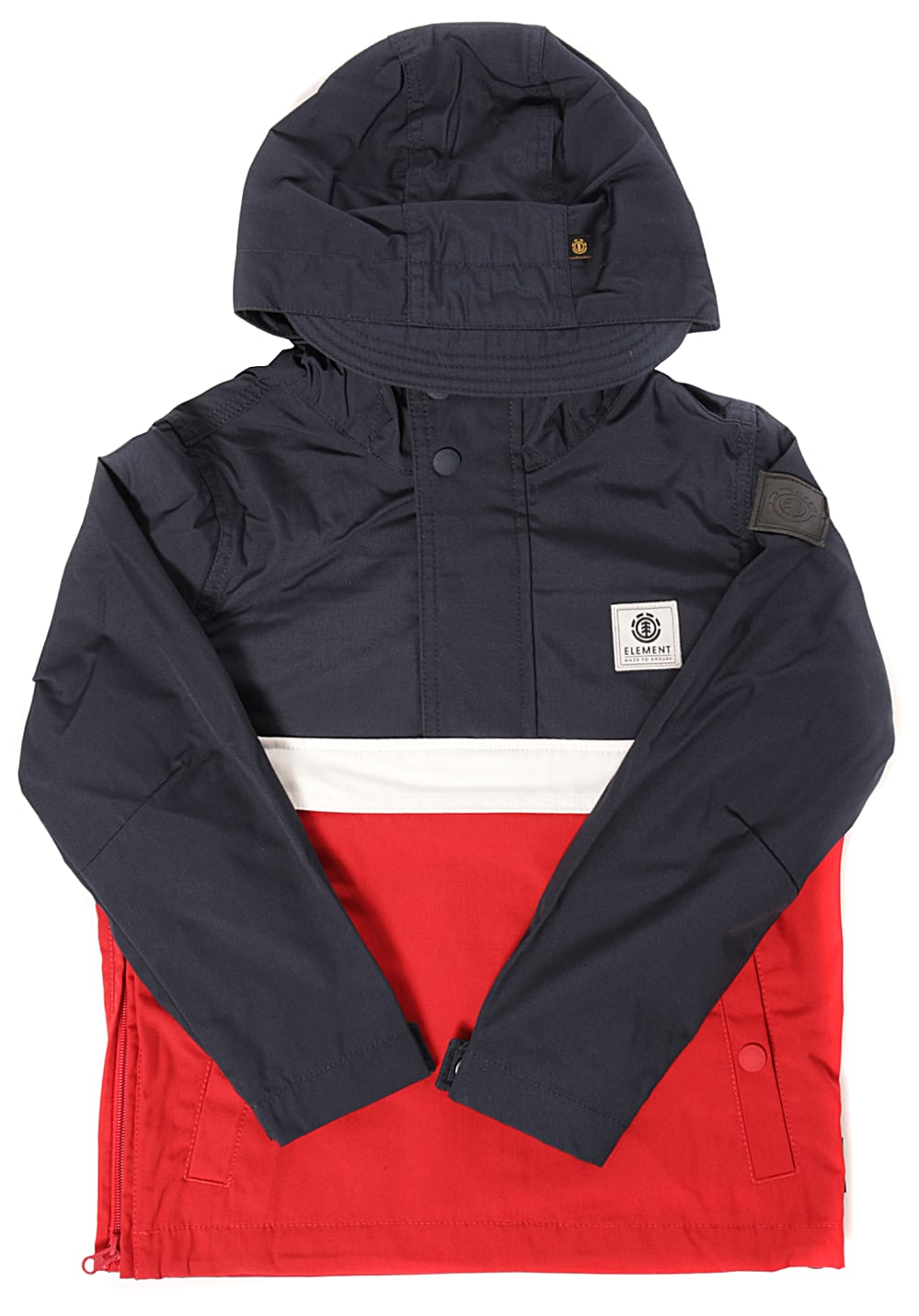 Boysregenwinter - Element Barrow Light Jacke für Jungs Rot - Onlineshop Planet Sports