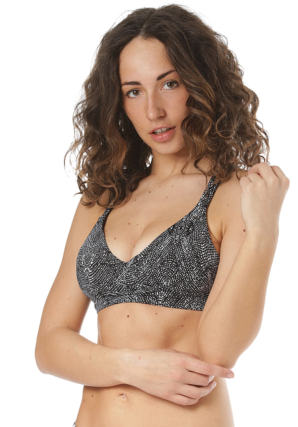 Bademode - O'Neill Wave Mix Bikini Oberteil für Damen Schwarz  - Onlineshop Planet Sports