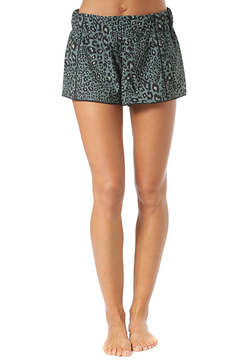 Bademode - Hurley Phantom Waverider Leopard Boardshorts für Damen Grün  - Onlineshop Planet Sports