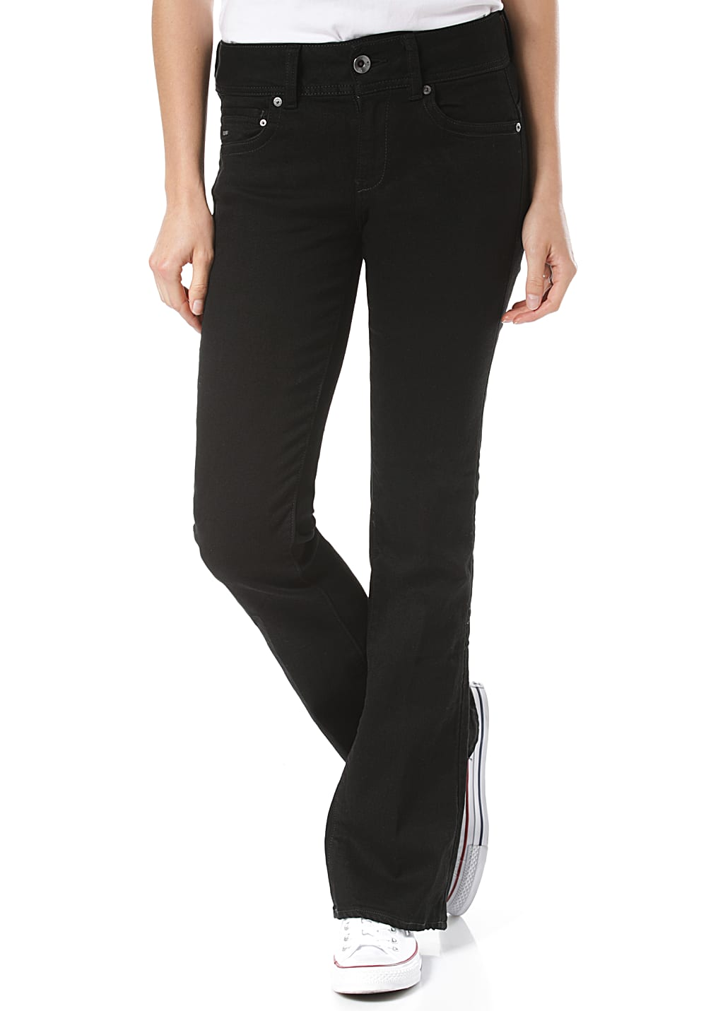 G-STAR RAW Midge Mid Bootcut Elto Nero Black F Superstretch - Jeans für Damen - Schwarz