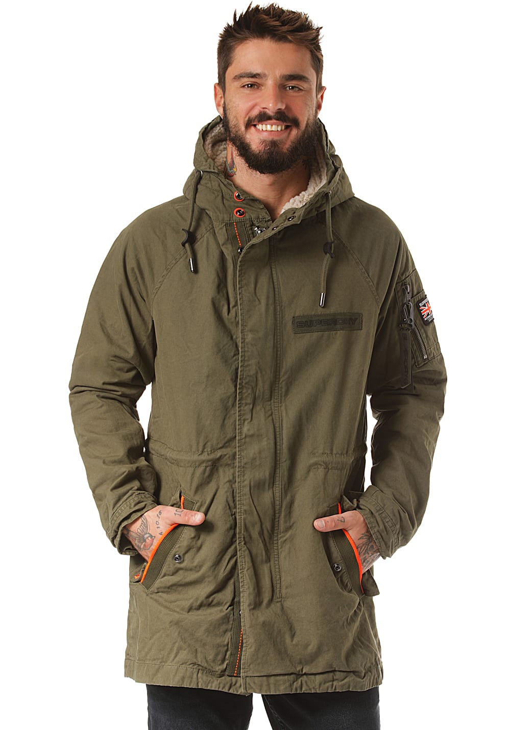 Herren Aviator Für Planet Superdry Grün Jacke Winter WDHEYI29
