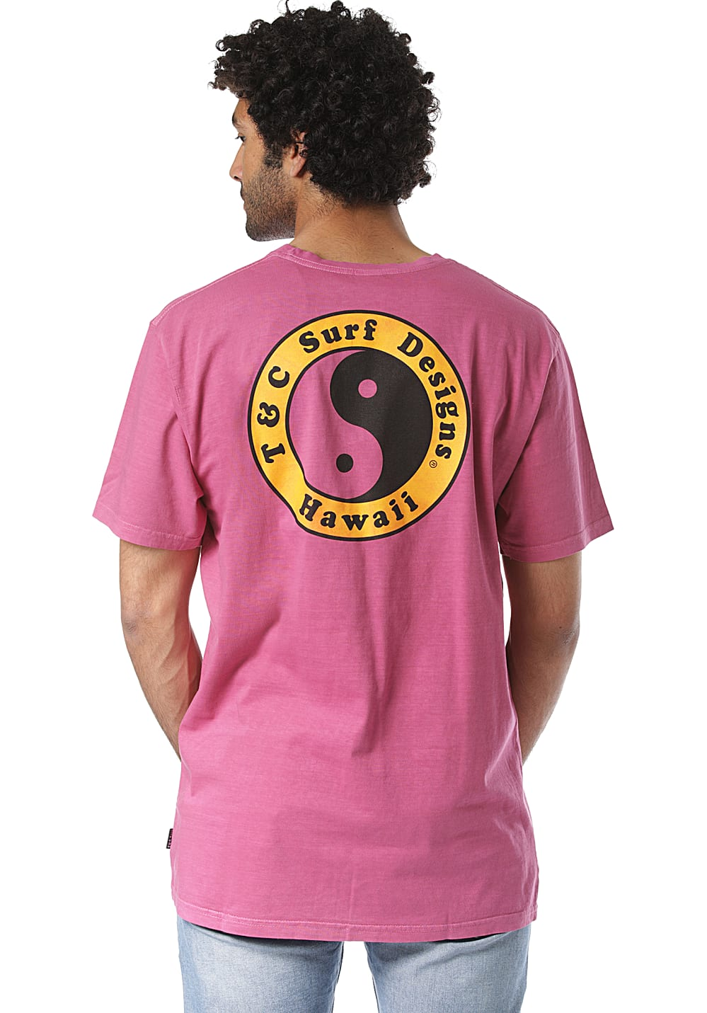 Town & Country Surf Designs OG Logo - T-Shirt für Herren Pink