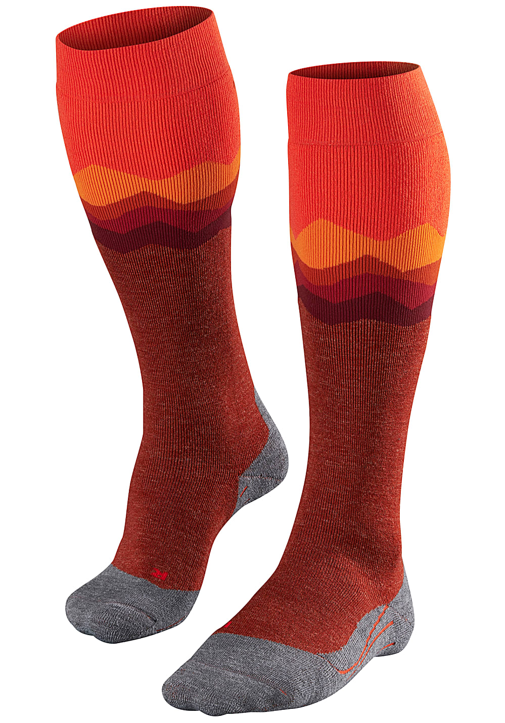 Socken - FALKE SK 2 Crest Snowboard Socken für Damen Orange  - Onlineshop Planet Sports