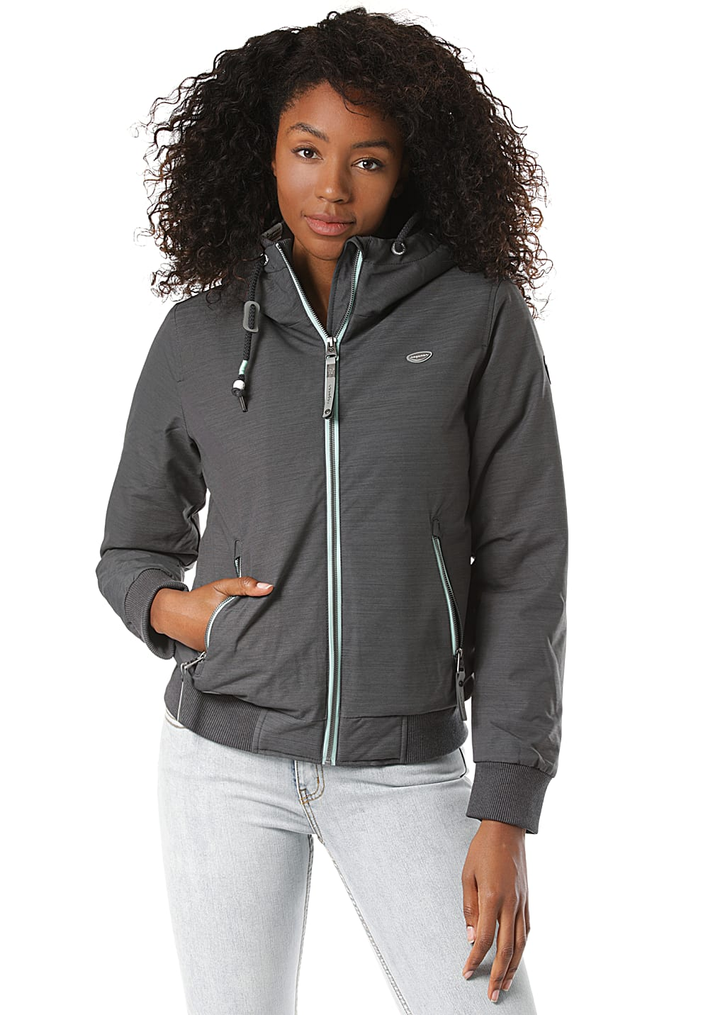 Jacken - ragwear Nuggie Slub Jacke für Damen Grau  - Onlineshop Planet Sports