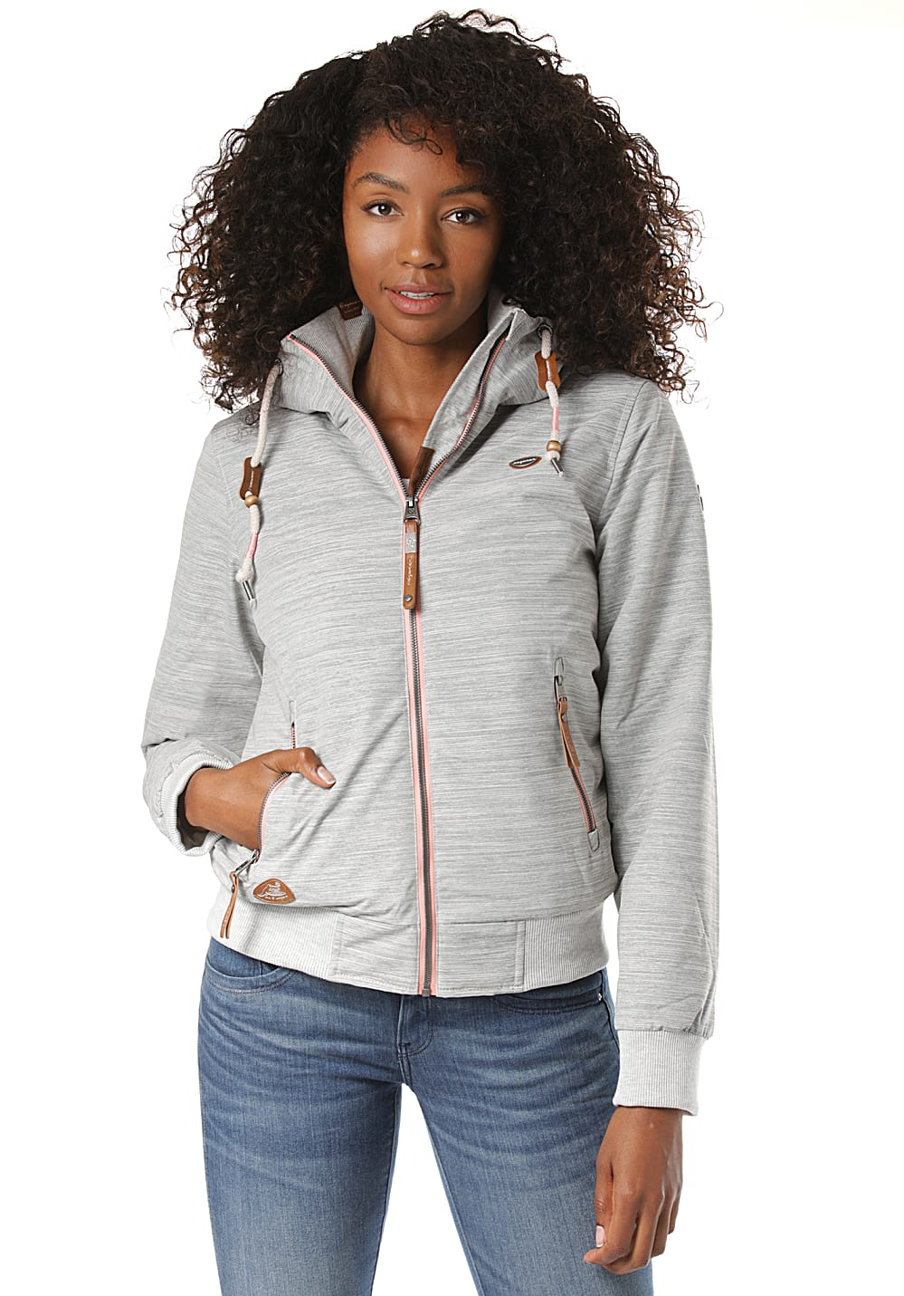 Jacken - ragwear Nuggie Slub Jacke für Damen Beige  - Onlineshop Planet Sports