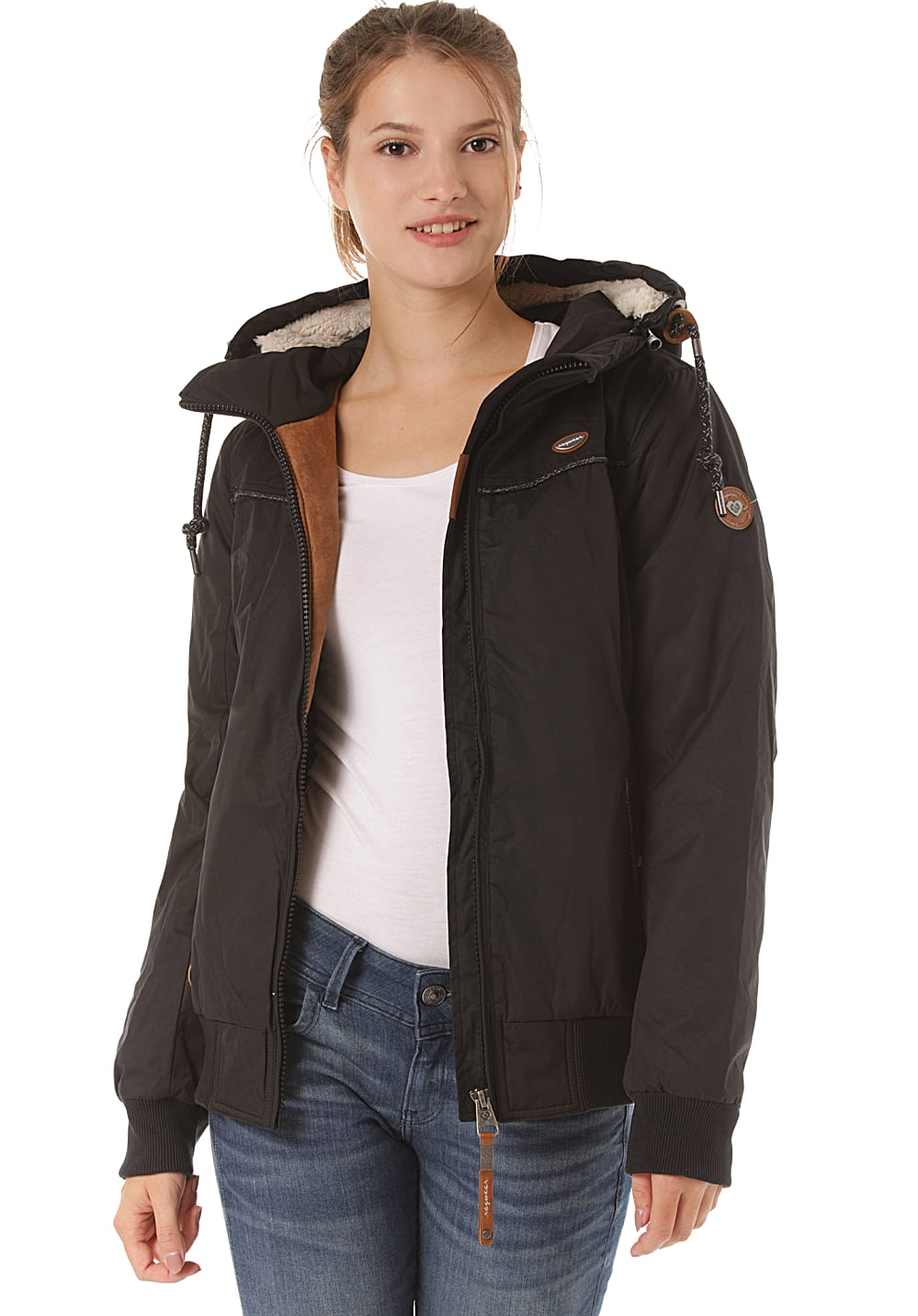 Jacken - ragwear Jotty Jacke für Damen Schwarz  - Onlineshop Planet Sports