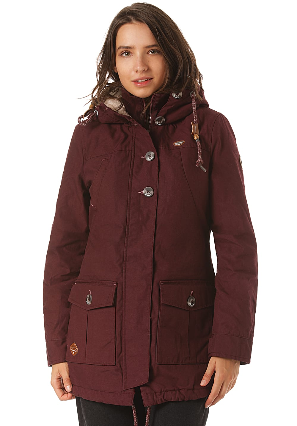 Jacken - ragwear Jane Jacke für Damen Rot  - Onlineshop Planet Sports