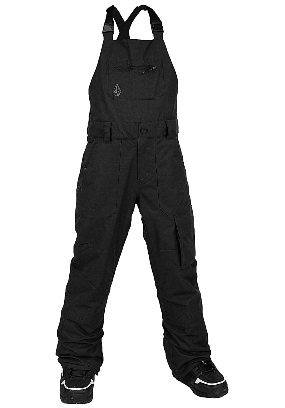 Boysregenwinter - Volcom Barkley Bib Overall Snowboardhose Schwarz - Onlineshop Planet Sports