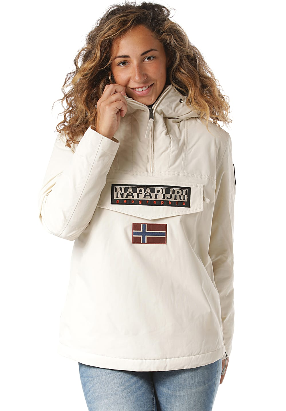 Jacken für Frauen - Napapijri Rainforest Winter 3 Jacke für Damen Beige  - Onlineshop Planet Sports