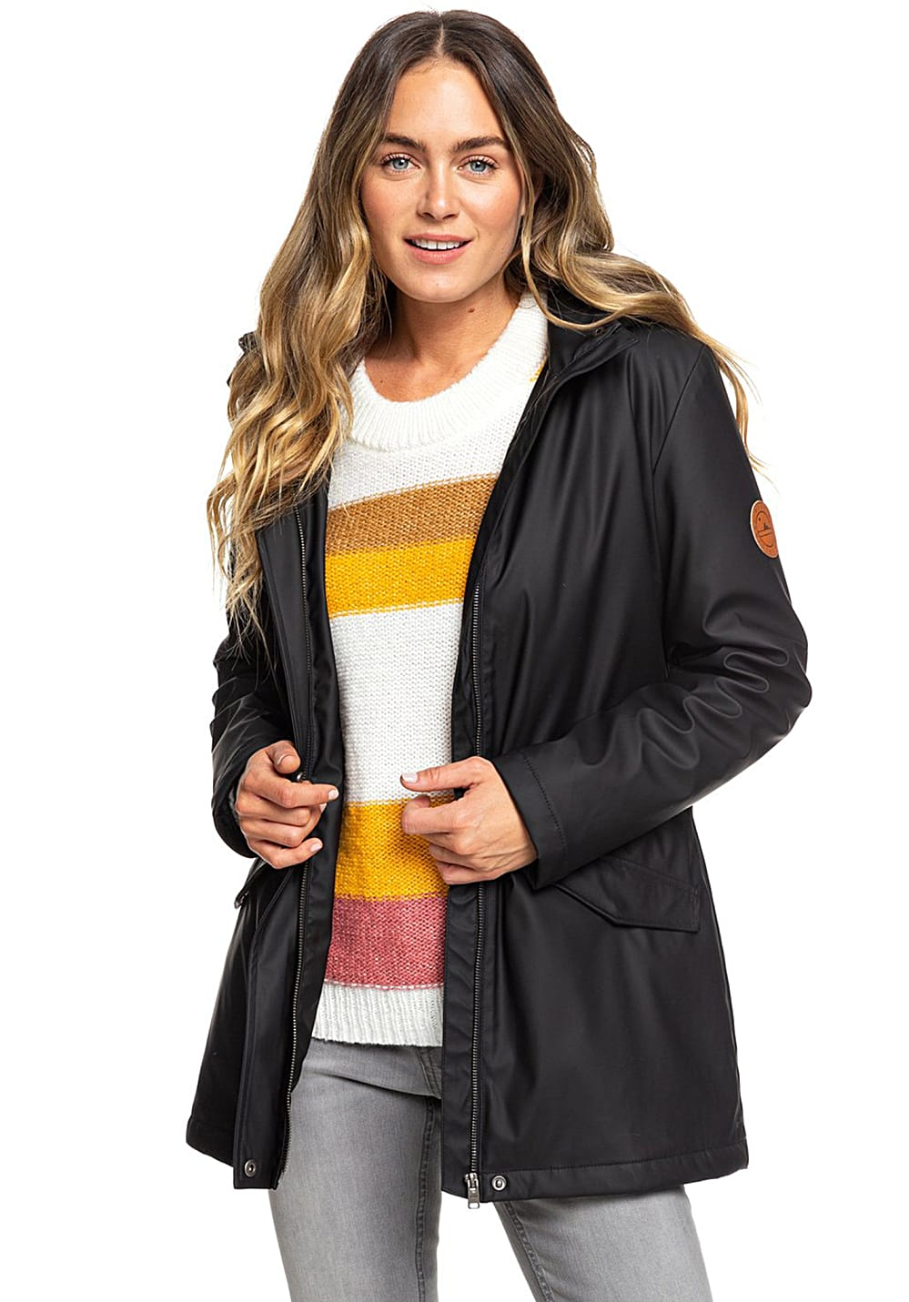 Jacken - Roxy Downtown Callin Jacke für Damen Schwarz  - Onlineshop Planet Sports