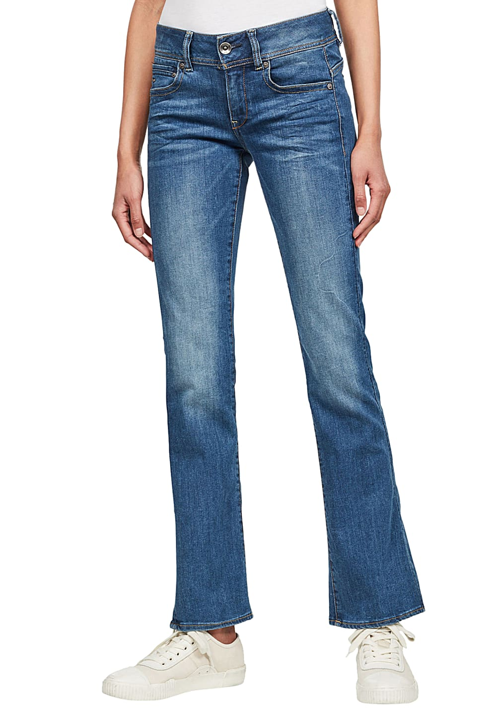G-STAR RAW Midge Mid Bootcut Neutro Stretch - Jeans für Damen - Blau