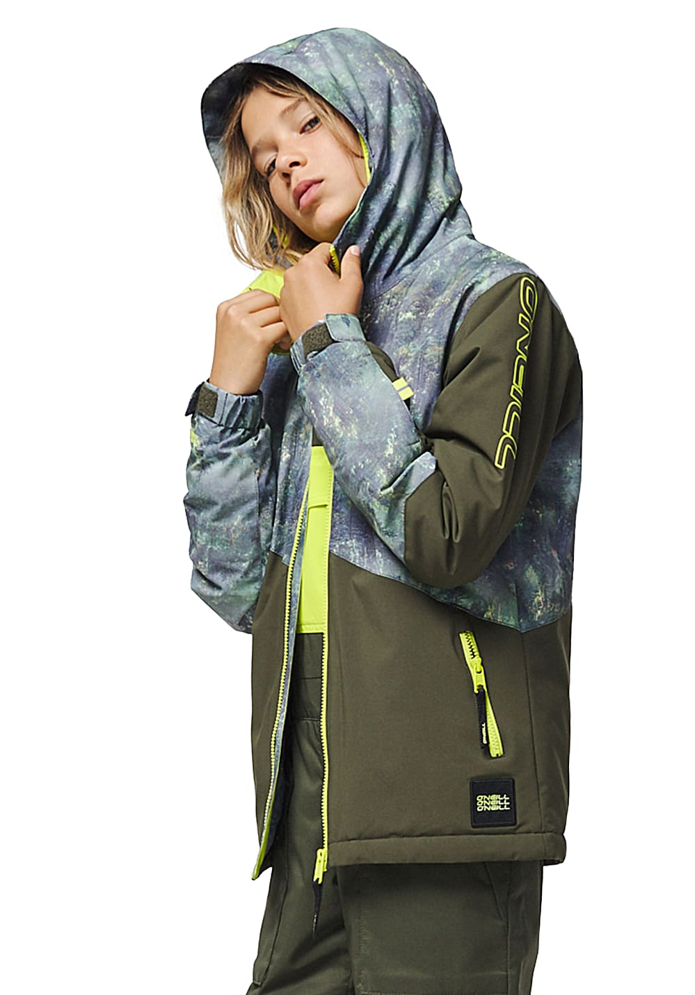 Boysregenwinter - O'Neill Halite Snowboardjacke für Jungs Grün - Onlineshop Planet Sports