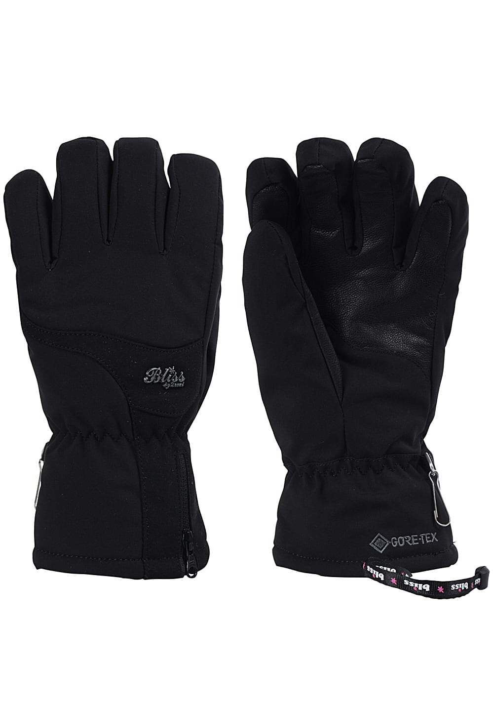 Handschuhe - Level Bliss Emerald Gore Tex Snowboard Handschuhe für Damen Schwarz  - Onlineshop Planet Sports