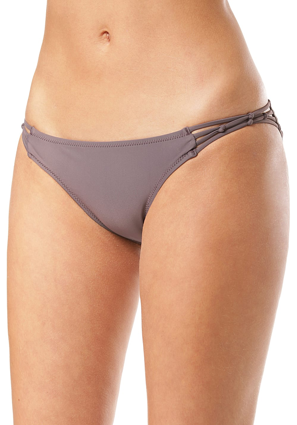 Bademode - Volcom Simply Solid Full Bikini Hose für Damen Grau  - Onlineshop Planet Sports