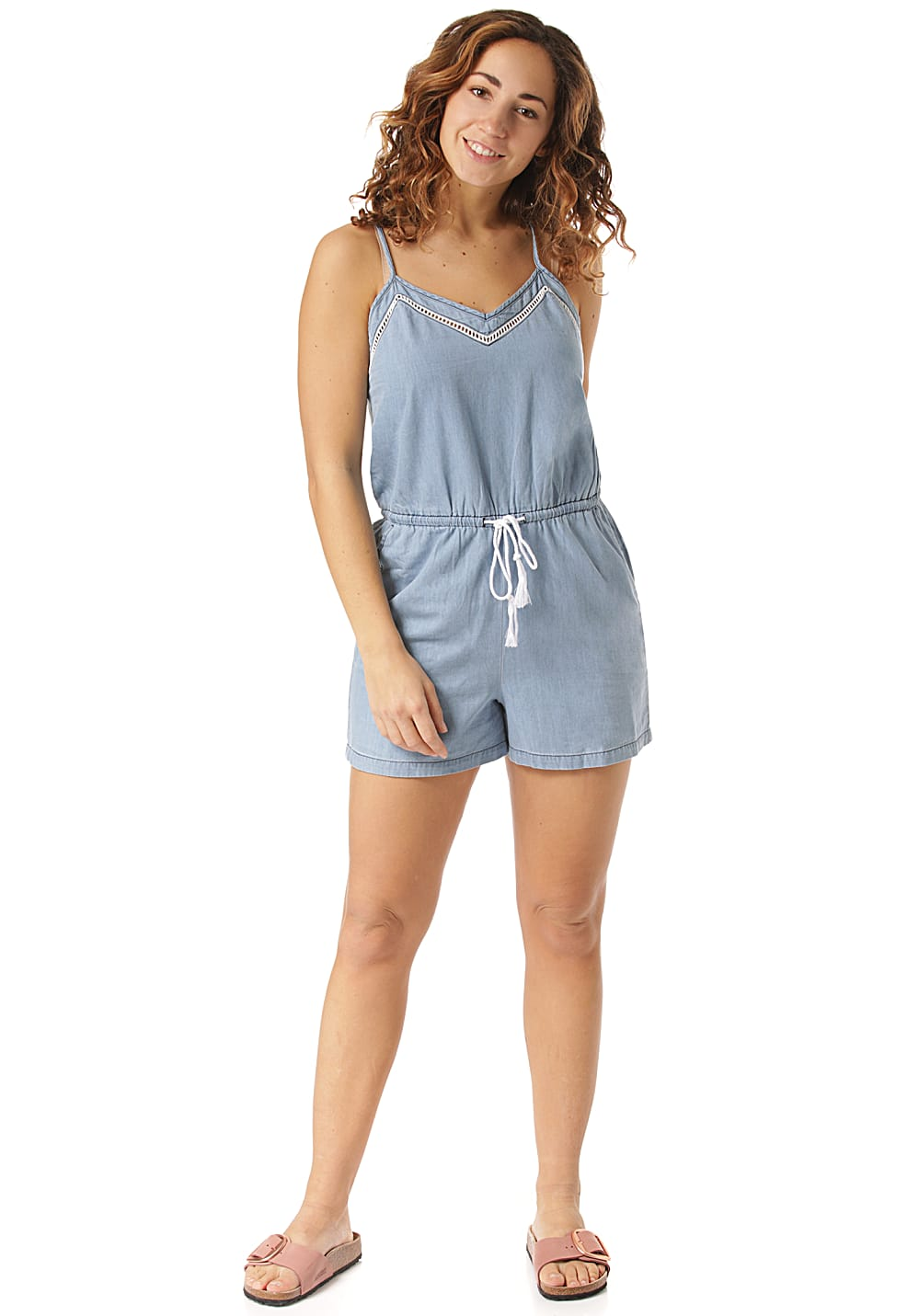 Hosen - O'Neill Denim Playsuit Overall für Damen Blau  - Onlineshop Planet Sports