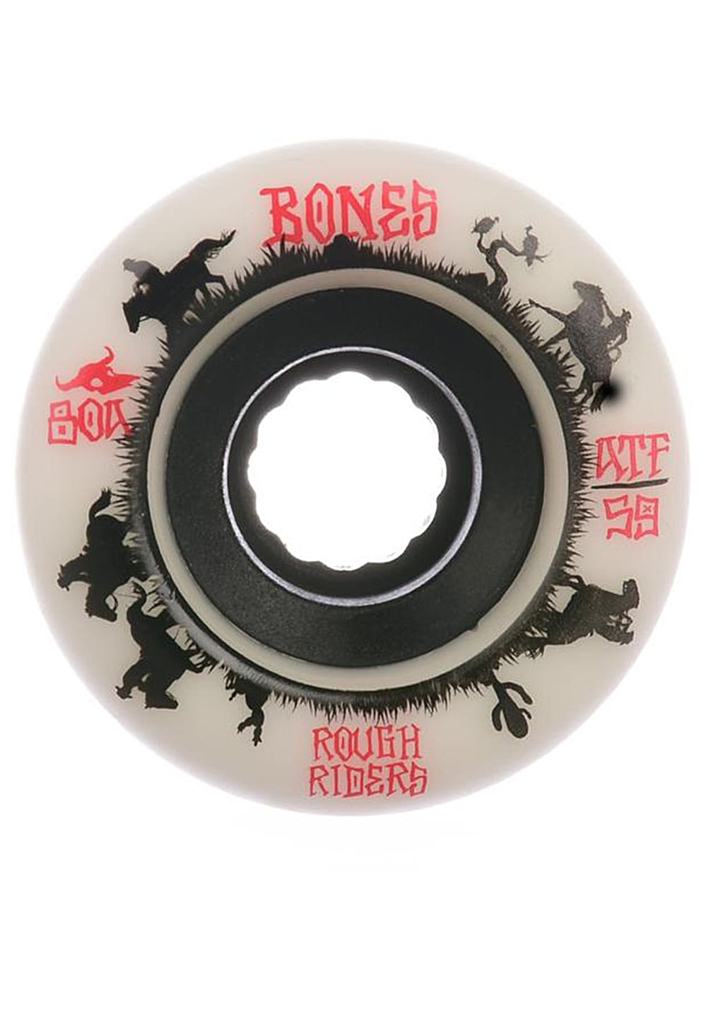Planet Sports | BONES Rough Riders Wranglers 80A 56mm Skate Rollen – Weiß