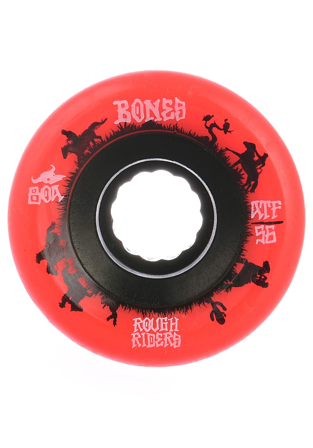 Planet Sports   BONES Rough Riders Wranglers 80A 59mm Skate Rollen – Rot