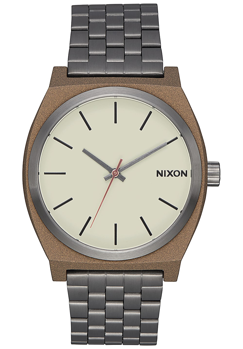 nixon time teller uhr f r herren grau planet sports. Black Bedroom Furniture Sets. Home Design Ideas