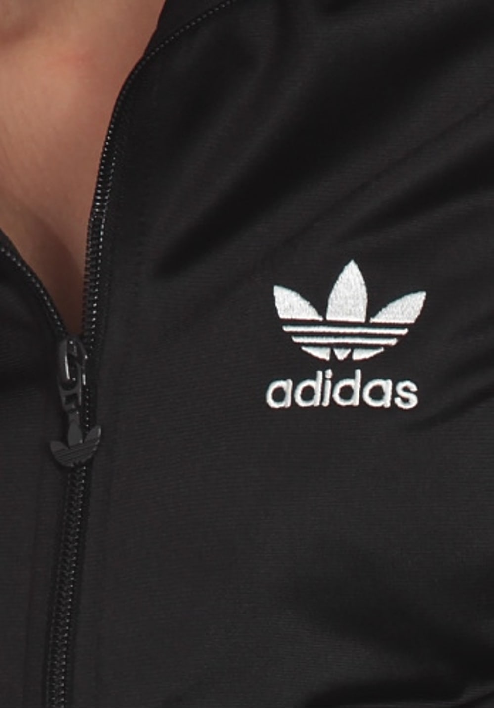 adidas Originals ADICOLOR Logo Firebird Tracktop Jacket Trainingsjacke für Damen Schwarz