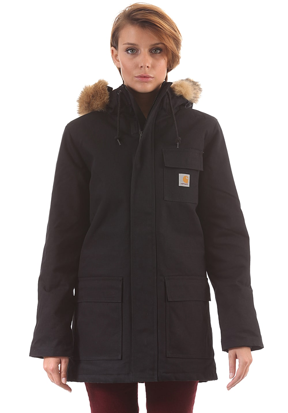 carhartt wip x 39 siberian parka jacke f r damen schwarz. Black Bedroom Furniture Sets. Home Design Ideas