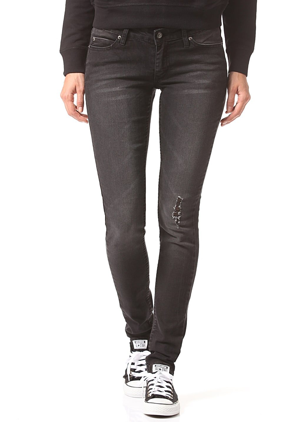 cheap monday slim jeans f r damen schwarz planet sports. Black Bedroom Furniture Sets. Home Design Ideas