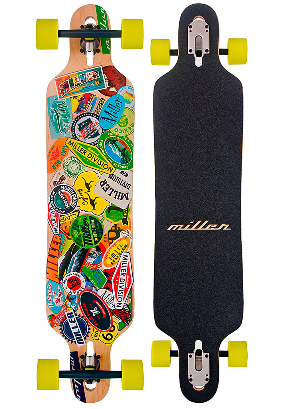 miller travel stickers 41 longboard mehrfarbig planet sports. Black Bedroom Furniture Sets. Home Design Ideas
