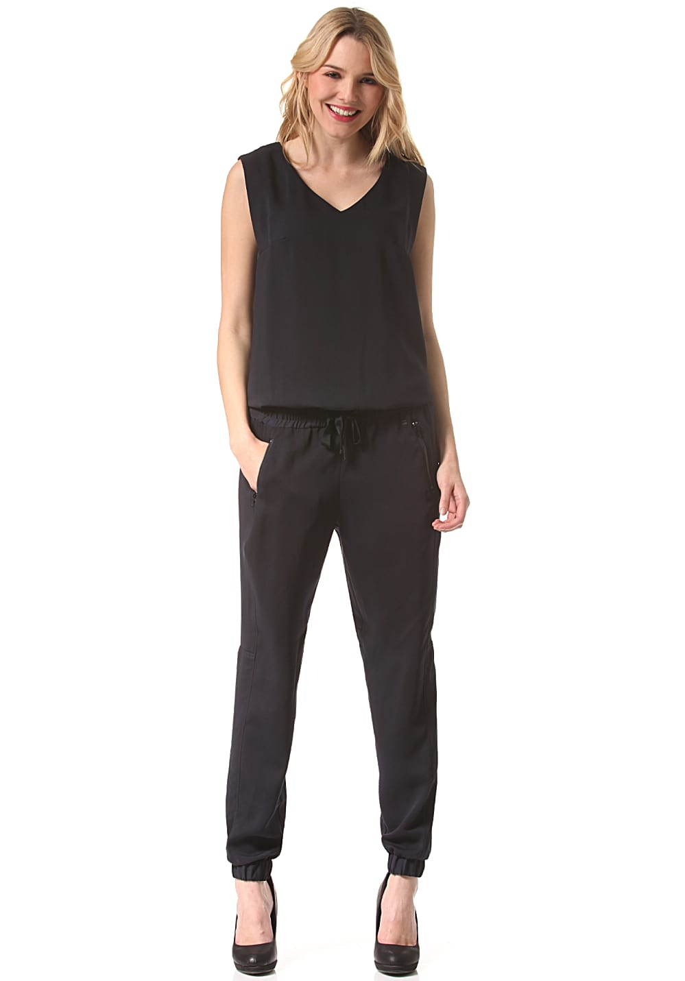 g star raw numu jumpsuit overall f r damen blau planet sports. Black Bedroom Furniture Sets. Home Design Ideas