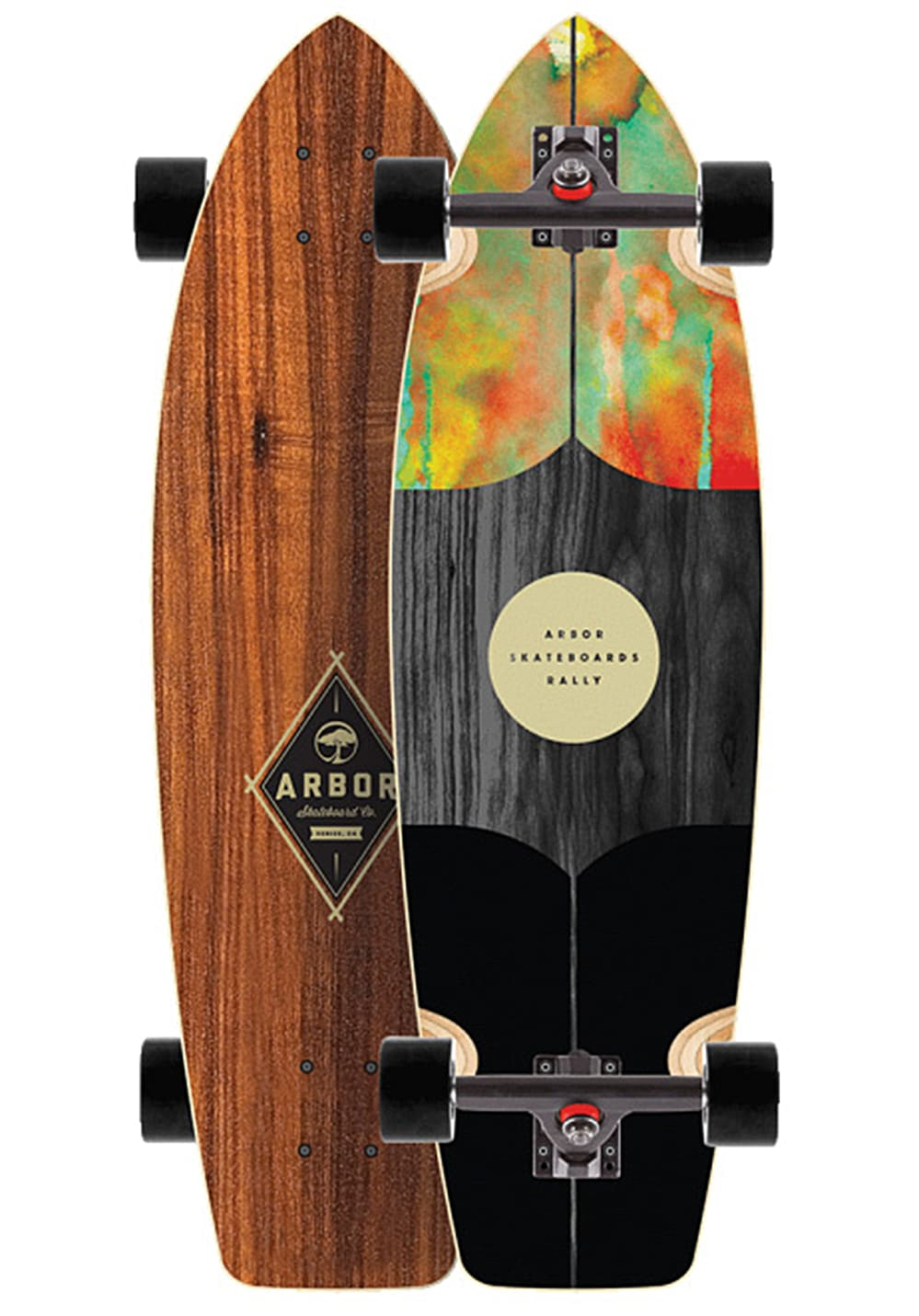 arbor rally 9 0 longboard mehrfarbig planet sports. Black Bedroom Furniture Sets. Home Design Ideas
