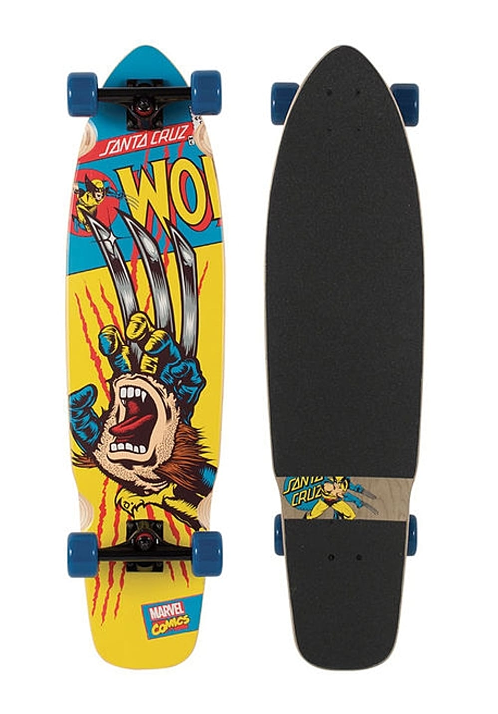 santa cruz marvel wolverine hand longboard schwarz planet sports. Black Bedroom Furniture Sets. Home Design Ideas