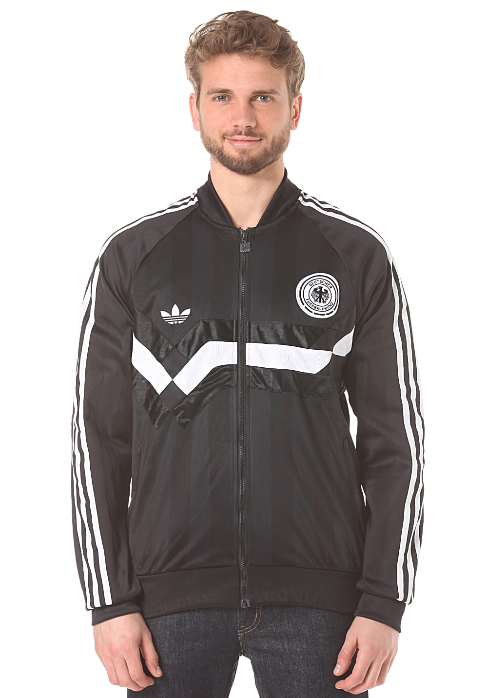 adidas germany tt sweatjacke f r herren schwarz. Black Bedroom Furniture Sets. Home Design Ideas