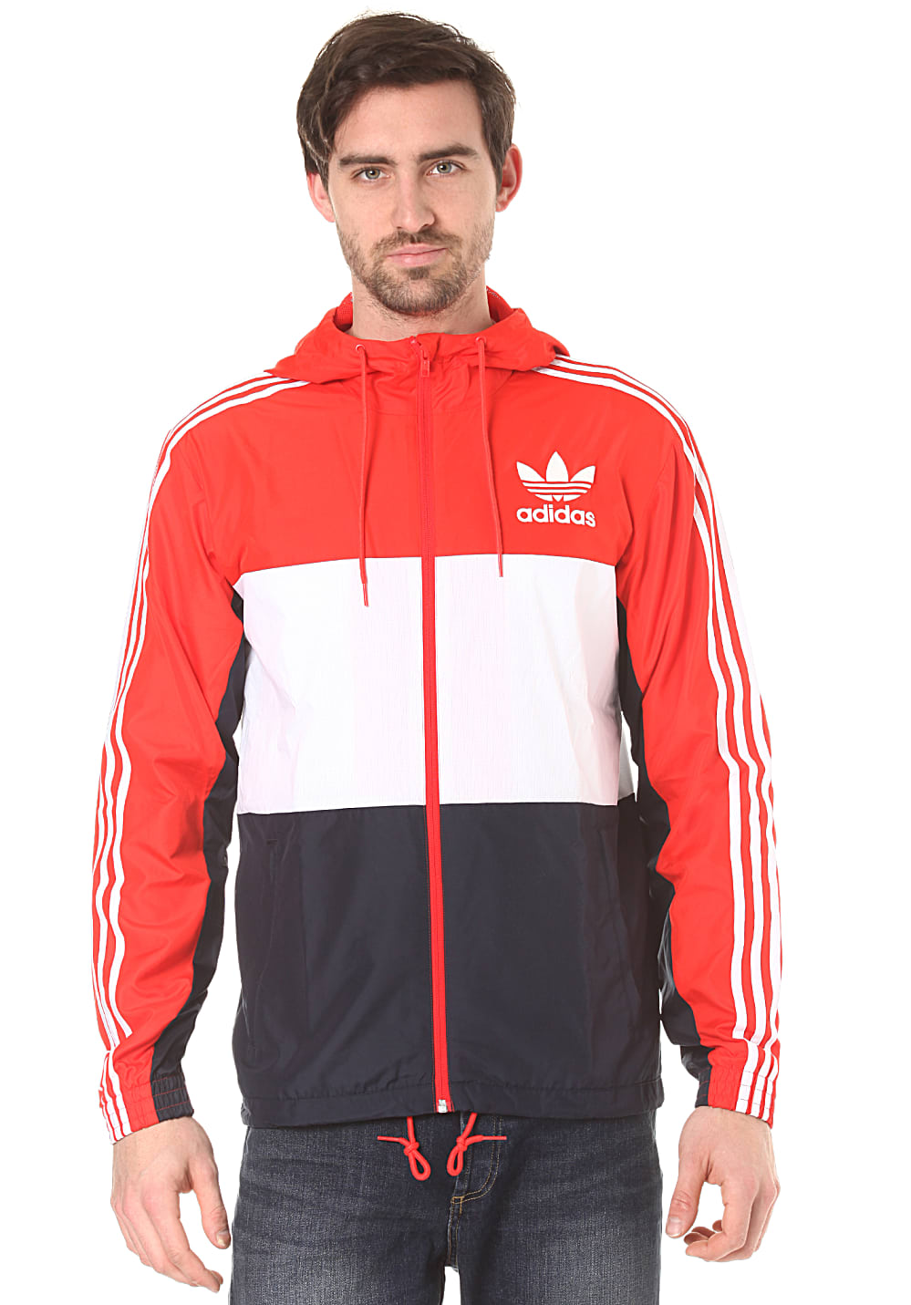 adidas clfn jacke f r herren blau planet sports. Black Bedroom Furniture Sets. Home Design Ideas