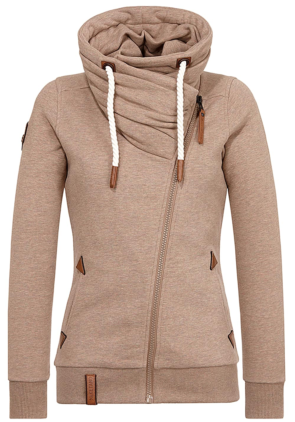 NAKETANO Jedi Path Sweatjacke für Damen Braun