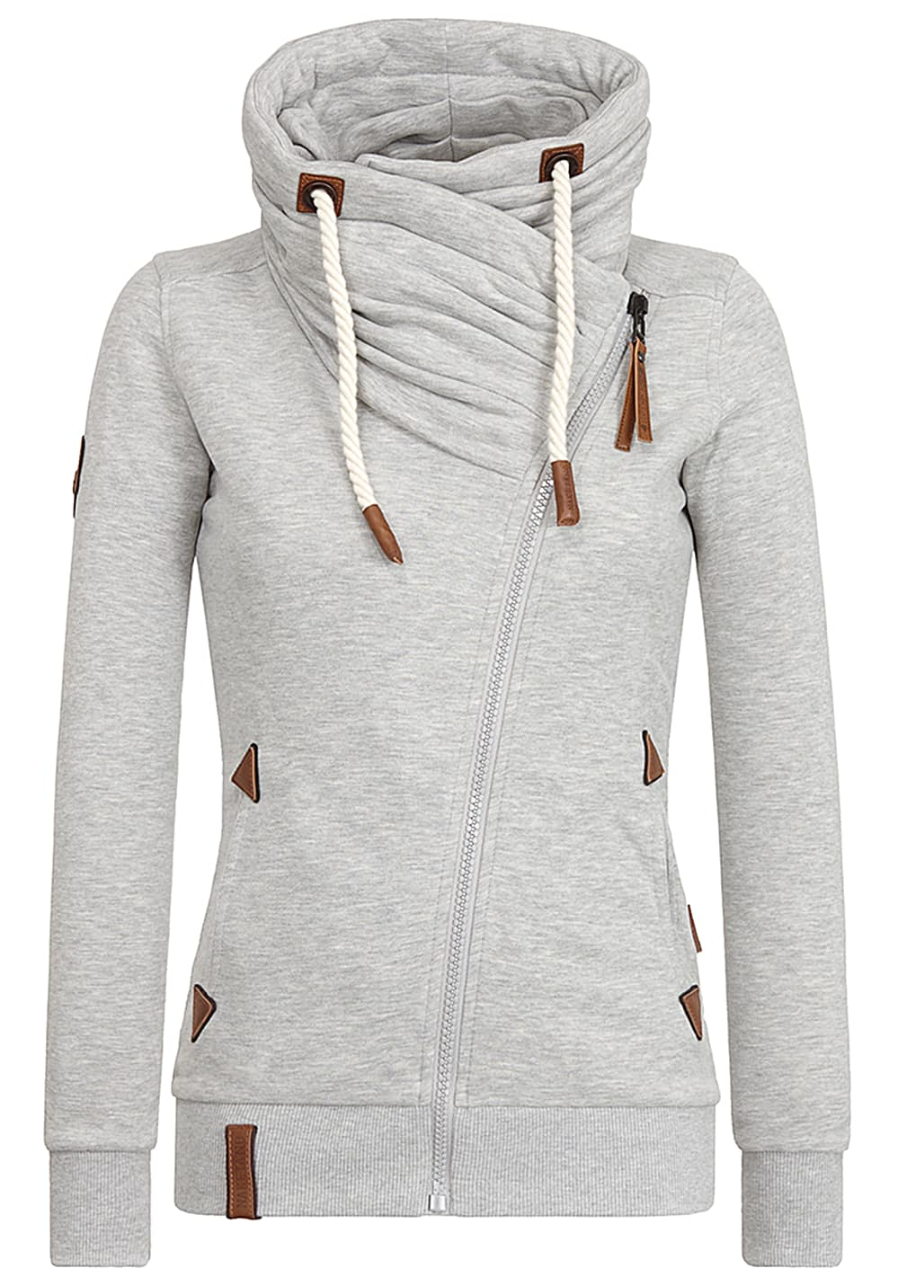 NAKETANO Jedi Path Sweatjacke für Damen Grau